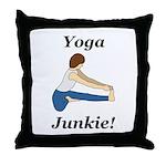 Yoga Junkie Throw Pillow