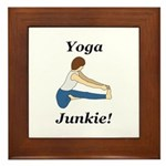 Yoga Junkie Framed Tile