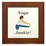 Yoga Junkie Framed Tile