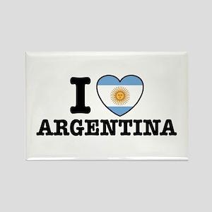 I Love Argentina Rectangle Magnet