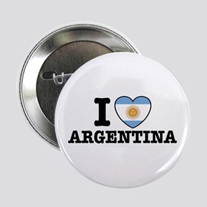 I Love Argentina Button