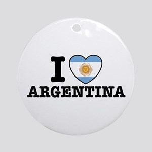 I Love Argentina Ornament (Round)