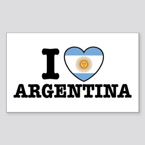 I Love Argentina Rectangle Sticker
