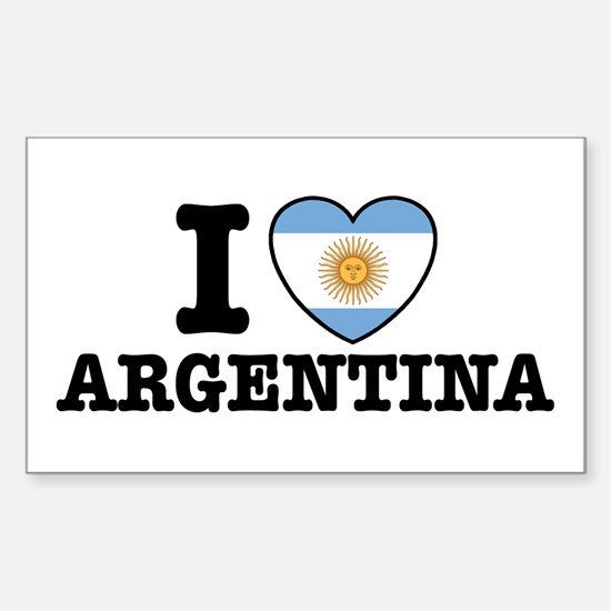 I Love Argentina Rectangle Decal