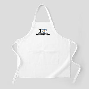 I Love Argentina BBQ Apron