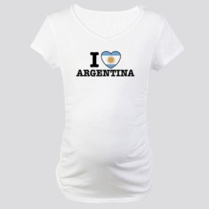 I Love Argentina Maternity T-Shirt