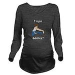 Yoga Addict Long Sleeve Maternity T-Shirt