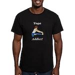 Yoga Addict Men's Fitted T-Shirt (dark)