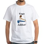 Yoga Addict White T-Shirt