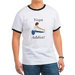 Yoga Addict Ringer T