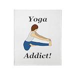 Yoga Addict Throw Blanket