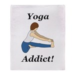 Yoga Addict Throw Blanket