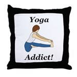 Yoga Addict Throw Pillow