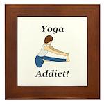 Yoga Addict Framed Tile