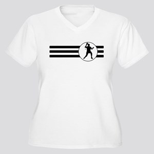 Table Tennis Stripes Plus Size T-Shirt