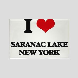 I love Saranac Lake New York Magnets