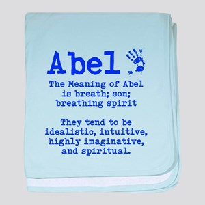 The Meaning of Abel baby blanket