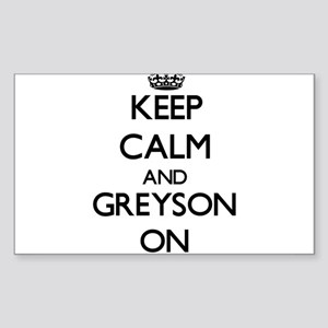Keep Calm and Greyson ON Sticker