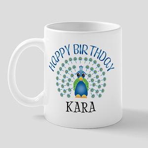 Happy Birthday KARA (peacock) Mug