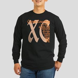 Cross Country XC orange Long Sleeve T-Shirt