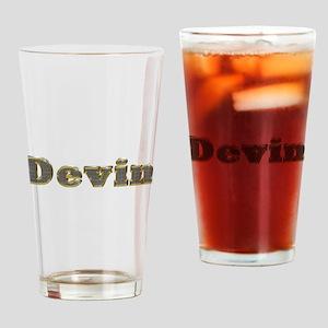 Devin Gold Diamond Bling Drinking Glass