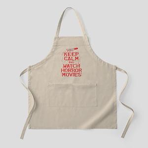 Keep Calm Watch Horror Apron