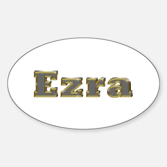 Ezra Gold Diamond Bling Oval Decal