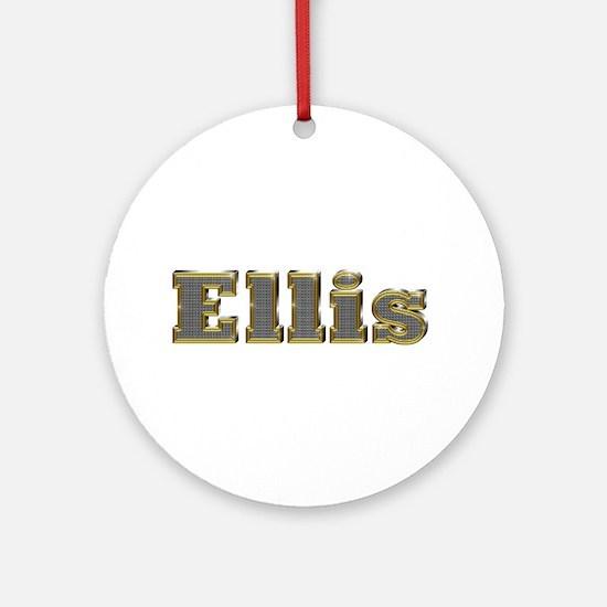 Ellis Gold Diamond Bling Round Ornament