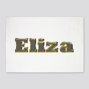Eliza Gold Diamond Bling 5'x7' Area Rug