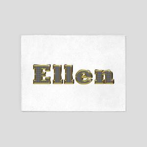 Ellen Gold Diamond Bling 5'x7' Area Rug