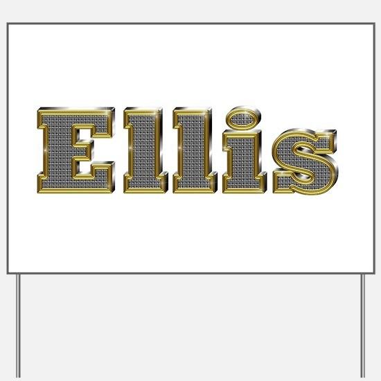 Ellis Gold Diamond Bling Yard Sign