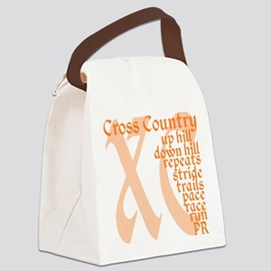 Cross Country XC orange Canvas Lunch Bag