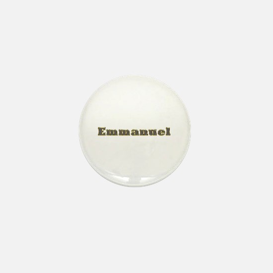 Emmanuel Gold Diamond Bling Mini Button