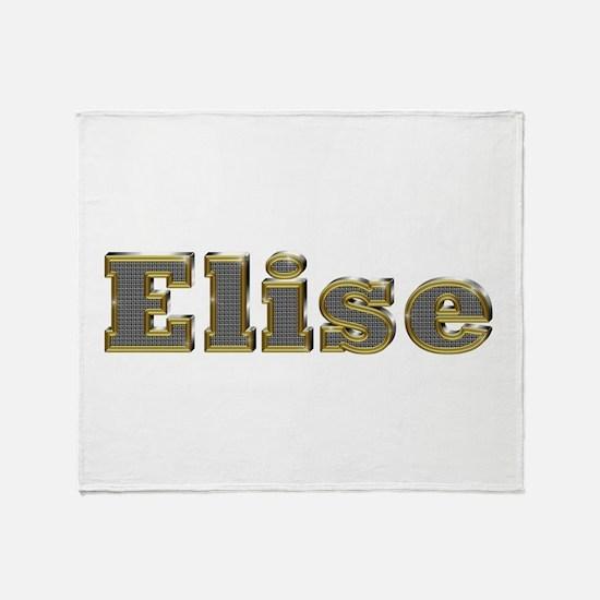 Elise Gold Diamond Bling Throw Blanket