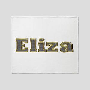 Eliza Gold Diamond Bling Throw Blanket