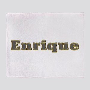 Enrique Gold Diamond Bling Throw Blanket