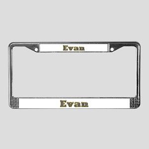 Evan Gold Diamond Bling License Plate Frame