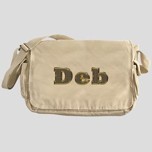 Deb Gold Diamond Bling Messenger Bag