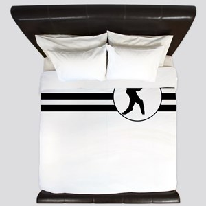Cricket Player Stripes King Duvet