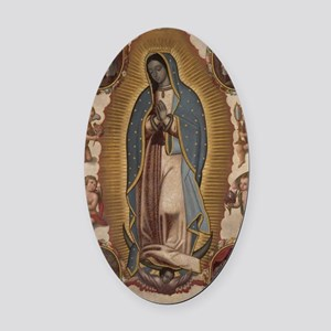 Virgin of Guadalupe. Oval Car Magnet
