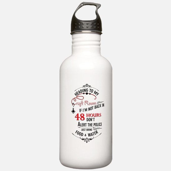 Heading to my craft room Sports Water Bottle