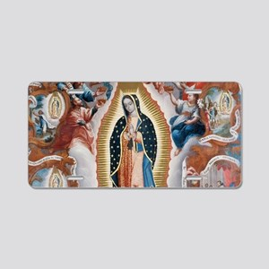 Virgin of Guadalupe Aluminum License Plate