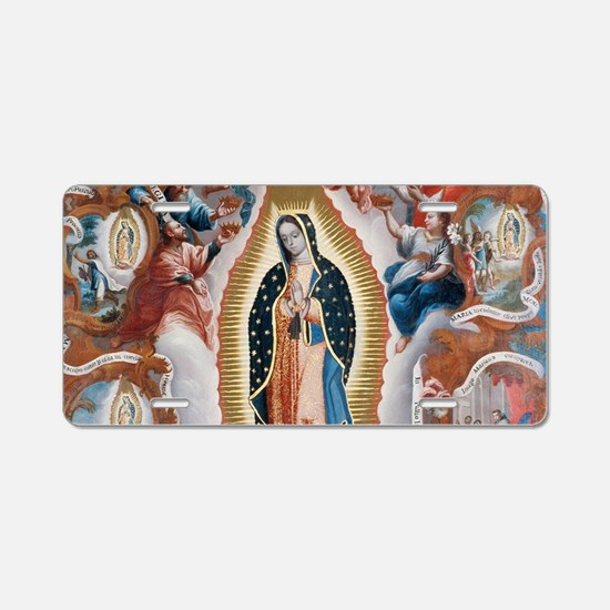 Virgin of Guadalupe Aluminum License Plate