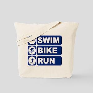 Swim Bike Run Triathlon Triathlete Tote Bag