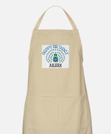 Happy Birthday AILEEN (peacoc BBQ Apron
