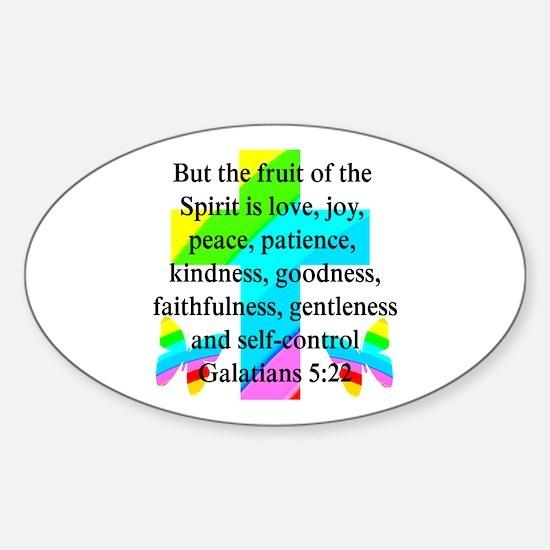 GALATIANS 5:22 Sticker (Oval)