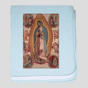 Virgin of Guadalupe. baby blanket