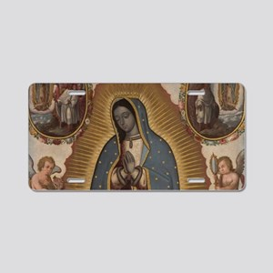 Virgin of Guadalupe. Aluminum License Plate