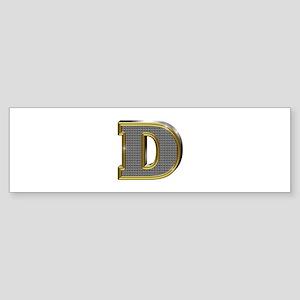 D Gold Diamond Bling Bumper Sticker