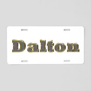 Dalton Gold Diamond Bling Aluminum License Plate